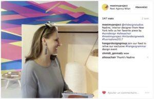Nadine Homan (New York) à l'exposition de Milan