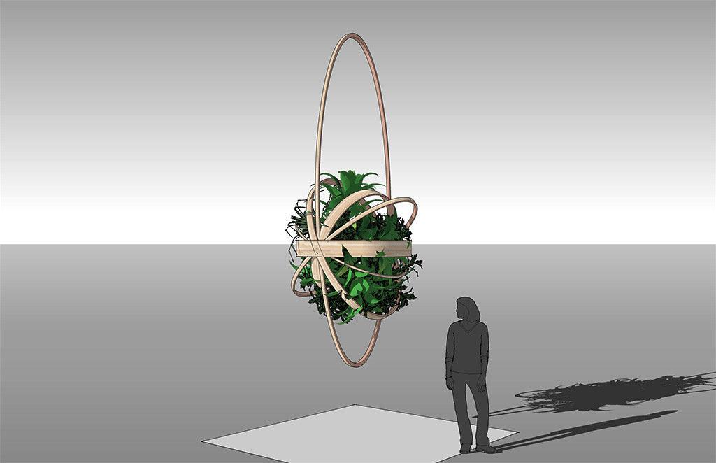 Suspension Galaxie Eugène, vue 3D du projet